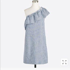 J. Crew Factory Striped One Shoulder Dress